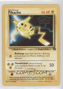 1999-2002 Pokemon Wizards of the Coast Exclusive Black Star Promos #4 - Pikachu