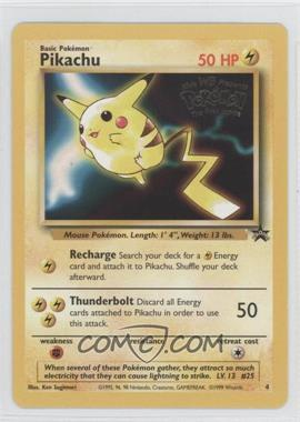 1999-2002 Pokemon Wizards of the Coast Exclusive Black Star Promos #4 - Pikachu