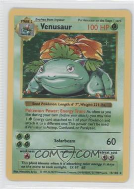 1999 Pokemon Base Set - Booster Pack [Base] - Shadowless #15 - Venusaur