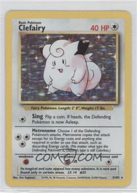 1999 Pokemon Base Set - Booster Pack [Base] - Unlimited #5 - Clefairy