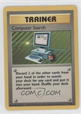 1999 Pokemon Base Set - Booster Pack [Base] - Unlimited #71 - Computer Search
