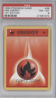 1999 Pokemon Base Set Booster Pack [Base] 1st Edition #98 - Fire Energy [PSA 8]