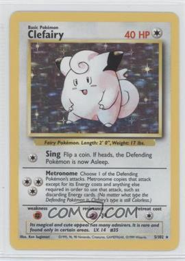 1999 Pokemon Base Set Booster Pack [Base] Unlimited #5 - Clefairy