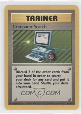 1999 Pokemon Base Set Booster Pack [Base] Unlimited #71 - Computer Search