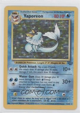 1999 Pokemon Jungle - Booster Pack [Base] - Unlimited #12.1 - Vaporeon