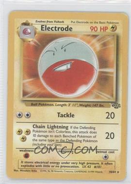 1999 Pokemon Jungle Booster Pack [Base] Unlimited #18 - Electrode