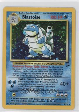 2000 Pokemon Base Set 2 Booster Pack Reprint Set #2 - Blastoise