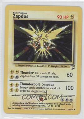 2000 Pokemon Base Set 2 Booster Pack Reprint Set #20 - Zapdos