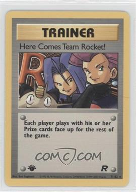 2000 Pokemon Team Rocket - Booster Pack [Base] - 1st Edition #71 - Here Comes Team Rocket!