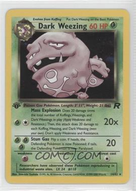 2000 Pokemon Team Rocket Booster Pack [Base] 1st Edition #14 - Dark Weezing