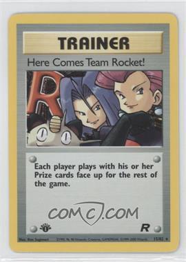 2000 Pokemon Team Rocket Booster Pack [Base] 1st Edition #15 - Here Comes Team Rocket!