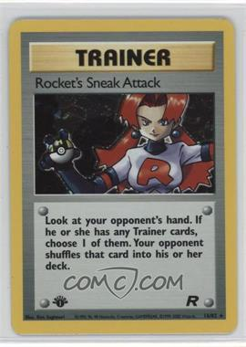 2000 Pokemon Team Rocket Booster Pack [Base] 1st Edition #16 - Rocket's Sneak Attack