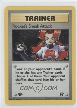 2000 Pokemon Team Rocket Booster Pack [Base] 1st Edition #16 - Rocket's Sneak Attack