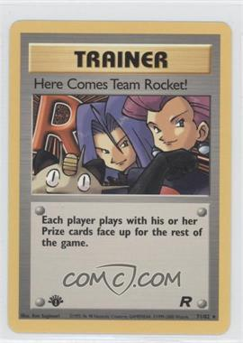 2000 Pokemon Team Rocket Booster Pack [Base] 1st Edition #71 - Here Comes Team Rocket!