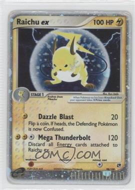 2003 Pokémon EX Sandstorm Booster Pack [Base] 1st Edition #98 - Raichu ex