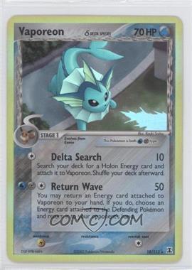 2005 Pokémon EX Delta Species Booster Pack [Base] #18 - Vaporeon