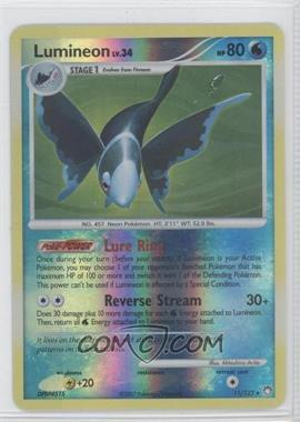 2007 Pokémon Mysterious Treasures Booster Pack [Base] Reverse Foil #11 - Lumineon