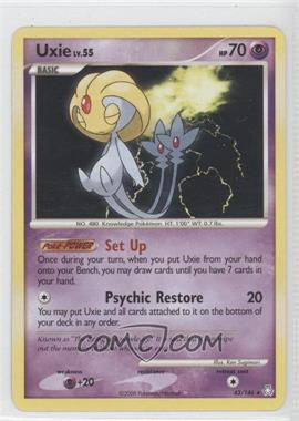 2008 Pokémon Legends Awakened - Booster Pack [Base] #43 - Uxie