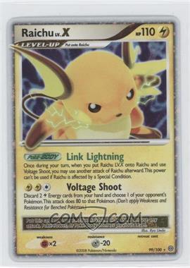 2008 Pokémon Stormfront Booster Pack [Base] #99 - Raichu LV.X