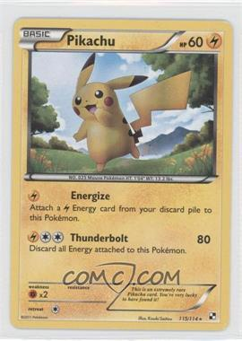 2011 Pokémon Black & White Booster Pack [Base] #115 - Pikachu