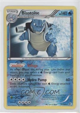 2012 Pokémon Boundaries Crossed Booster Pack [Base] Reverse Foil #31 - Blastoise
