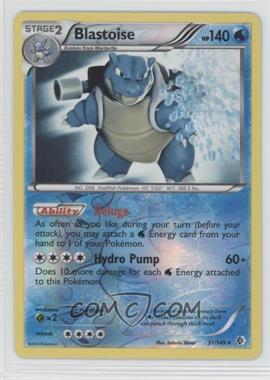 2012 Pokémon Boundaries Crossed Booster Pack [Base] Reverse Foil #31 - Blastoise