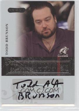 2006 Razor Poker - Showdown Signatures - [Autographed] #A-32 - Todd Brunson