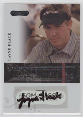2006 Razor Poker Showdown Signatures [Autographed] #A-16 - Layne Flack