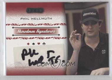 2007 Razor Poker - Showdown Signatures #SS-18 - Phil Hellmuth
