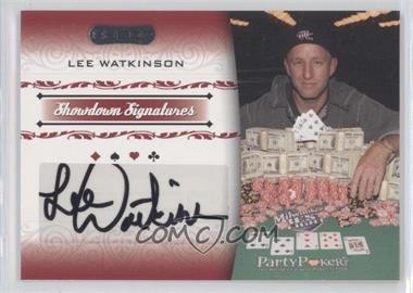 2007 Razor Poker - Showdown Signatures #SS-45 - Lee Watkinson