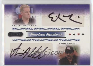 2007 Razor Poker - Showdown Signatures #SS-51 - Erick Lindgren, Amir Vahedi