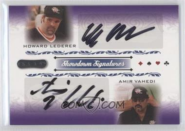 2007 Razor Poker - Showdown Signatures #SS-53 - Howard Lederer, Amir Vahedi