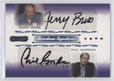2007 Razor Poker - Showdown Signatures #SS-57 - Phil Gordon, Jerry Buss