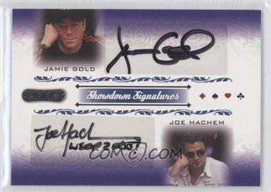2007 Razor Poker - Showdown Signatures #SS-61 - Jamie Gold, Joe Hachem