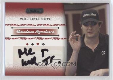 2007 Razor Poker Showdown Signatures #SS-18 - Phil Hellmuth
