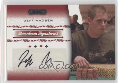 2007 Razor Poker Showdown Signatures #SS-26 - Jeff Madsen