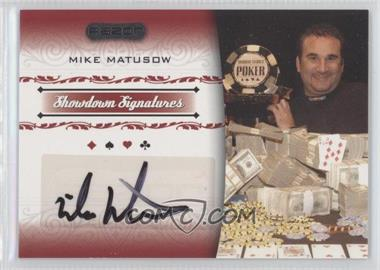 2007 Razor Poker Showdown Signatures #SS-28 - Mike Matusow
