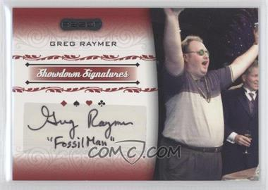 2007 Razor Poker Showdown Signatures #SS-38 - Greg Raymer