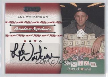 2007 Razor Poker Showdown Signatures #SS-45 - Lee Watkinson