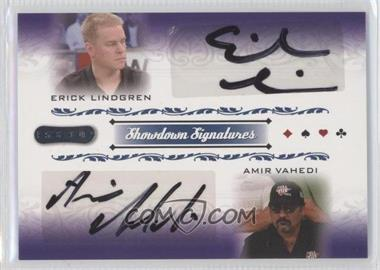 2007 Razor Poker Showdown Signatures #SS-51 - Erick Lindgren, Amir Vahedi