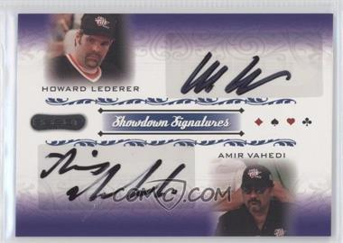 2007 Razor Poker Showdown Signatures #SS-53 - Howard Lederer, Amir Vahedi