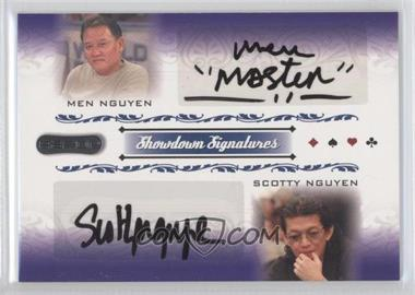 2007 Razor Poker Showdown Signatures #SS-55 - Men Nguyen, Scotty Nguyen