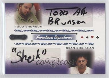 2007 Razor Poker Showdown Signatures #SS-56 - Todd Brunson, Sean Sheikhan