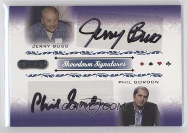 2007 Razor Poker Showdown Signatures #SS-57 - Phil Gordon, Jerry Buss