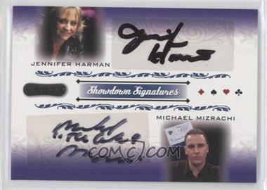 2007 Razor Poker Showdown Signatures #SS-58 - Jennifer Harman, Michael Mizrachi