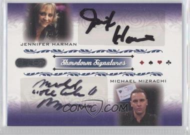 2007 Razor Poker Showdown Signatures #SS-58 - Jennifer Harman, Michael Mizrachi