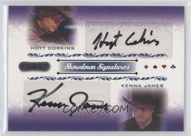 2007 Razor Poker Showdown Signatures #SS-65 - Hoyt Corkins, Kenna James