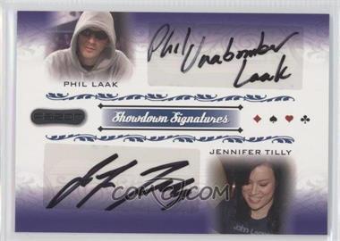 2007 Razor Poker Showdown Signatures #SS-68 - Phil Laak, Jennifer Tilly