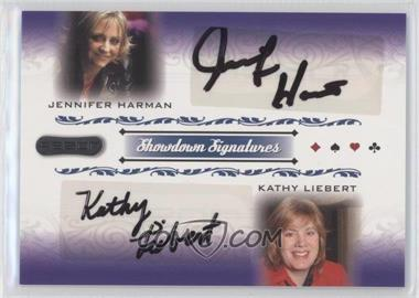 2007 Razor Poker Showdown Signatures #SS-71 - Jennifer Harman, Kathy Liebert