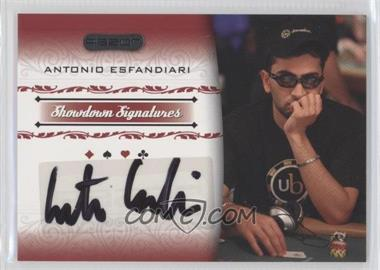 2007 Razor Poker Showdown Signatures #SS-9 - Antonio Esfandiari